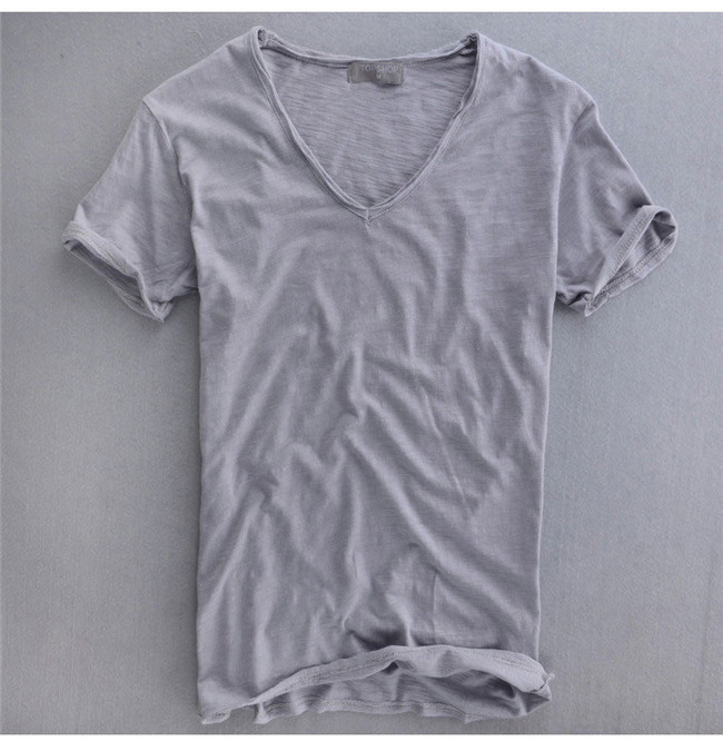 Aliexpress.com : Buy Summer Mens 100% Cotton T Shirt Plain White ...
