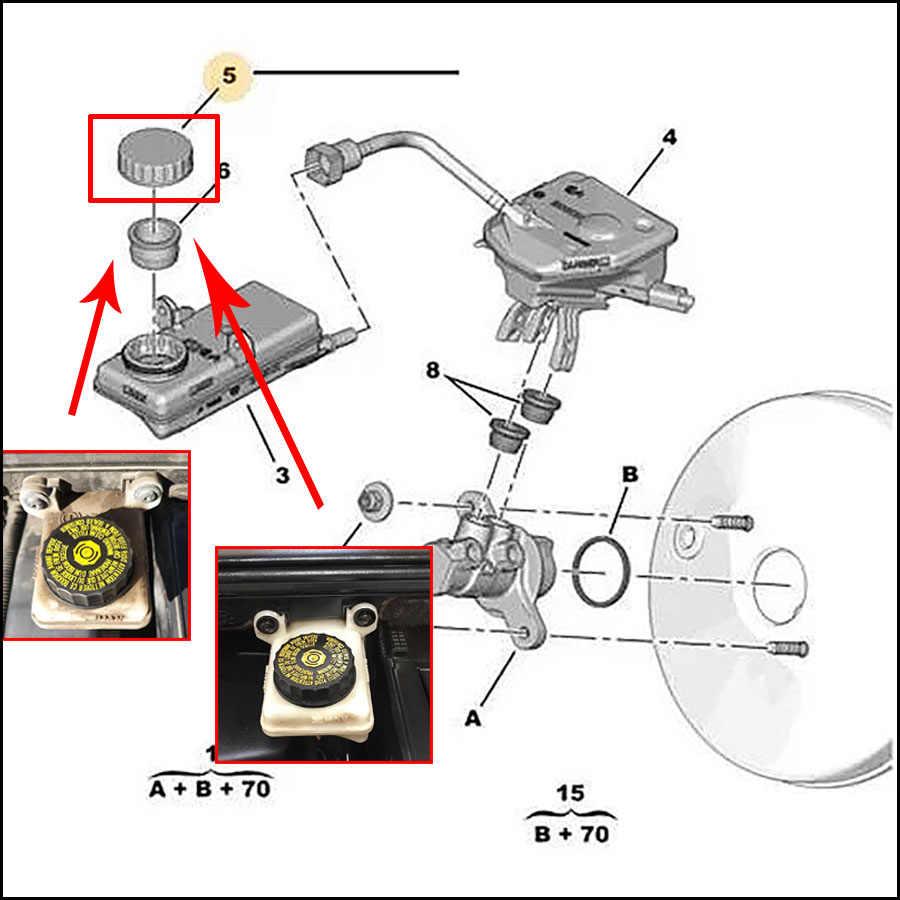 medium resolution of  car accessories 1613328880 16 133 288 80 brake fluid oil pot tank cover for citroen