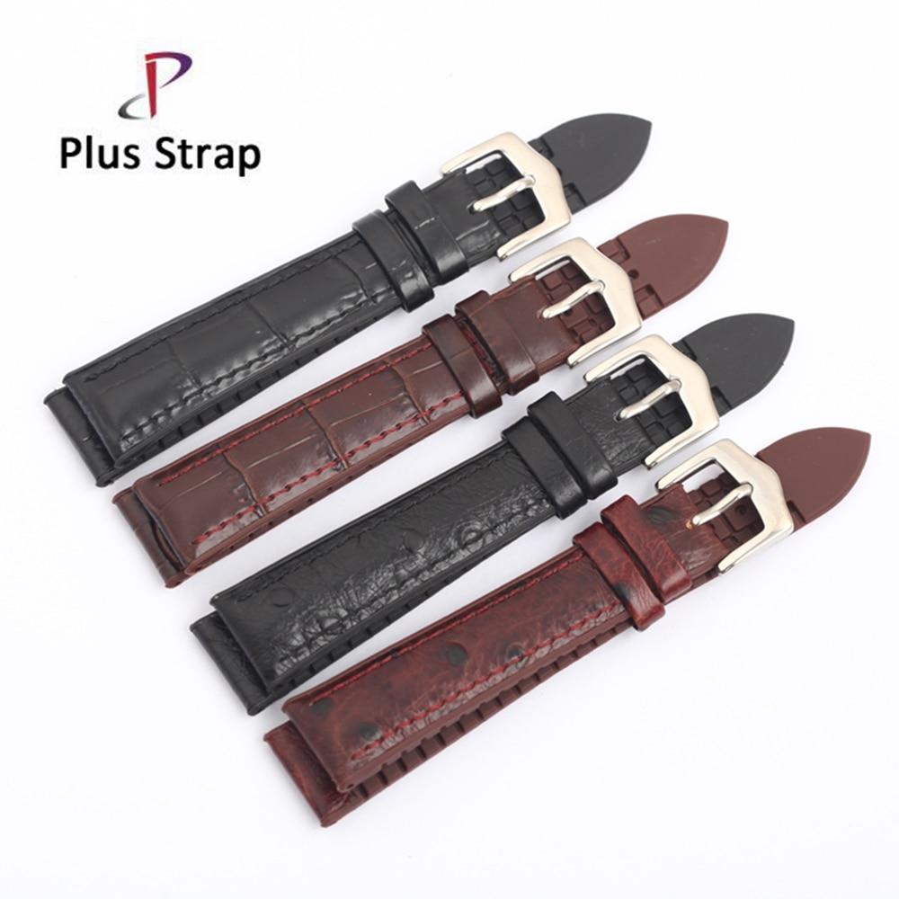 Plus strap New Bracelet Belt 18 19 20 21 22mm Genuine Calfskin Watchband Strap Rubber back Checkered pattern Men Women Wristband