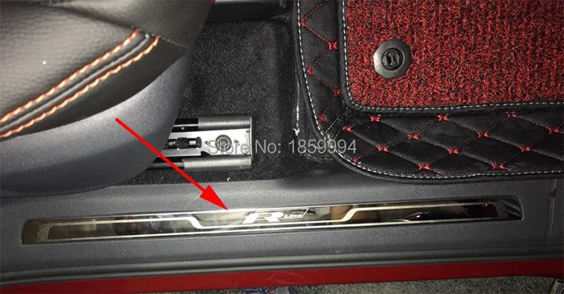 2016 2017 2018 vw tiguan mk2 european version rline r line car interior scuff plate door sill. Black Bedroom Furniture Sets. Home Design Ideas
