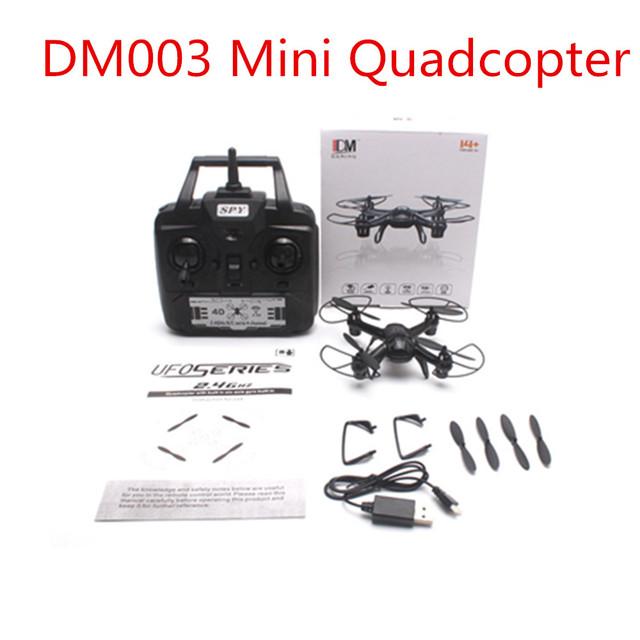 DM003 Explorador Quadcopter Espião 2.4 GHZ 4CH 6-Axis Gyro 3D Rolo Luz RC helicóptero quadrocopter drone MINI