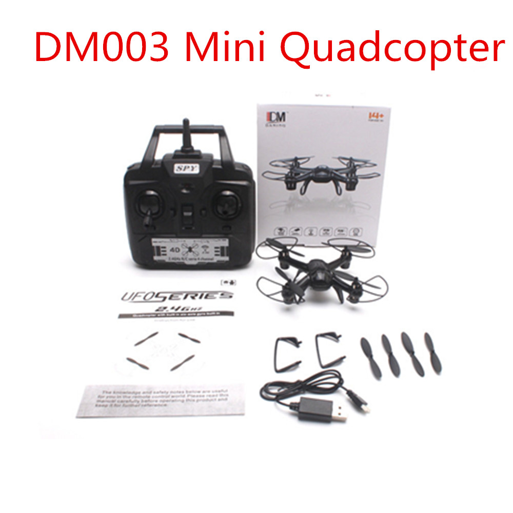 ФОТО DM003 Quadcopter Explorer Spy 2.4GHZ 4CH 6-Axis Gyro 3D Roll Light RC helicopter quadrocopter MINI drone