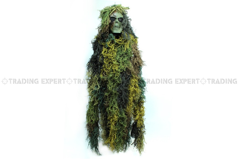 Military Ghillie Suit Woodland Camo Sniper Ghillie Suit with Nylon Strings rotosound cl2 strings regular end nylon