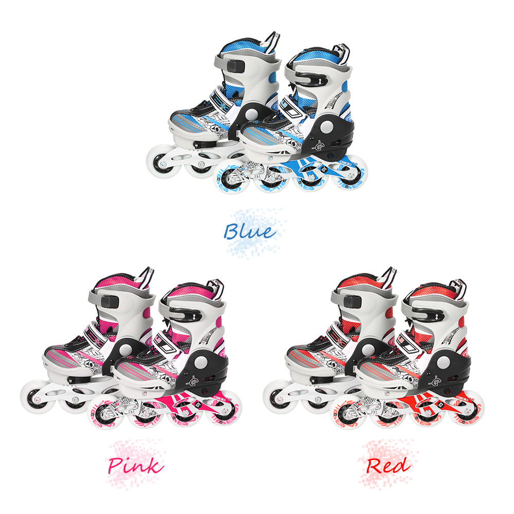 Image 4 - Portable Unisex Child Professional Adjustable Roller Skating Shoes Inline Skates 68mm Wheels with mute Bearings outdoor sports-in Skate Board from Sports & Entertainment