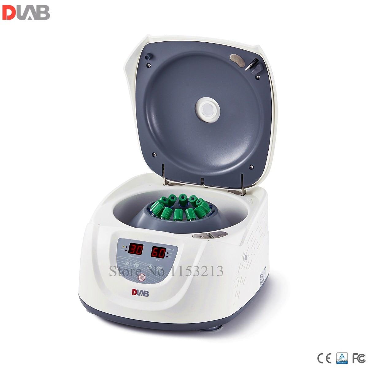 Dragon lab DM0412S centrífuga clínica de tipo económico de 15 ml * 8, o 10 ml/7 ml/5 ml * 12 dlab centrifugado de velocidad lenta 300-4500 rpm motor de CC