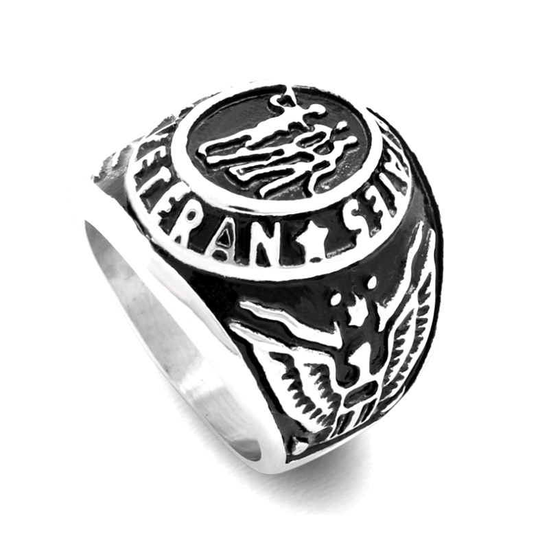 Male <font><b>ring</b></font> United States Army Navy Airforce Marines Venteran Military <font><b>Ring</b></font> Retro Vintage <font><b>USMC</b></font> Memorial War Battle For Mens image