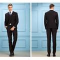 Homens do estilo da forma três-terno pedaço (jaqueta + calça + colete) personalizado de alta qualidade pure color mais recente homens terno bonito