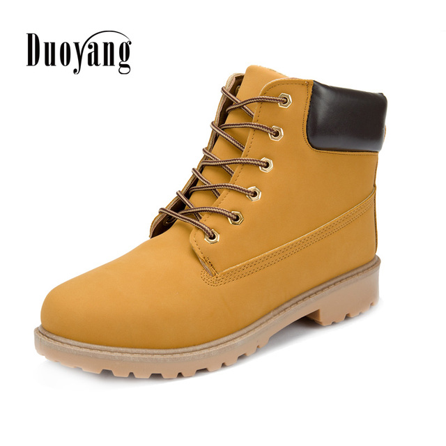 Men boots fashion Winter ankle snow shoes 2018 new arrival winter warm PU  leather man shoe