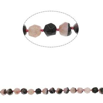 Два Тона Бисер Оникс Лунный Камень ограненный Природный Камень Бисер Для Изготовления Ювелирных Изделий Diy Браслет Ожерелье 15.7 Дюймов
