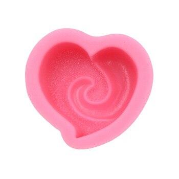3d قلب سيليكون الشوكولاته العفن فندان كعكة العفن محارة البحر sneil قوالب الصمغ لصق قوالب الصابون
