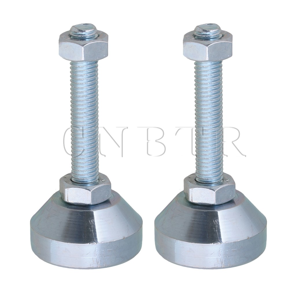 CNBTR 2PCS 40mm Dia M10x50mm Carbon Steel Adjustable Furniture Glides Feet