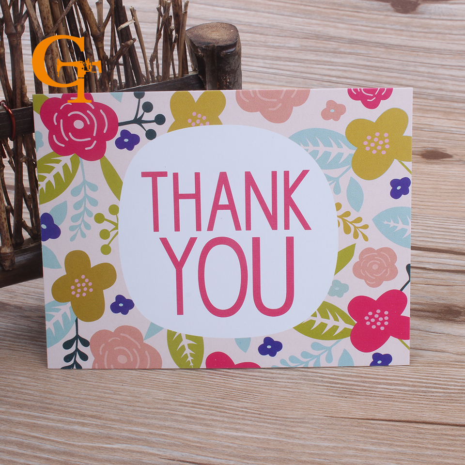 Colorful Square Thank You Card Suit For Envelope Weddingbirthday