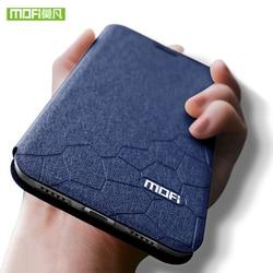 Original Mofi Para xiaomi redmi note 8 pro caso leather flip case capa para xiaomi redmi note 8 global nota 8 pro capa de silicone