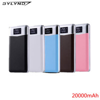 Original 20000 MAh LCD Portable Power Bank Charger External Battery Fast Charging For Phones Tablet PC