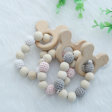INS Nordic Style Wooden Beads Ornament Cute Bear Shaped Wood Kids Toys For Baby Room Nursery Tent Hanging Decor Photo Props