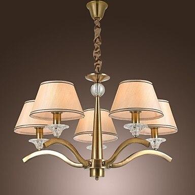 Hanglamp żyrandol żyrandole Klasyczne Tkaniny Metalowe Oświetlenie