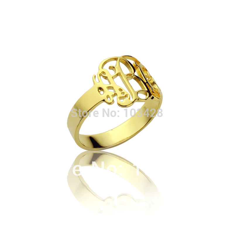 p roll s with gold larger initials to drag round image zoom signet sterling rings silver monogram over ring mens men plate in wedding v