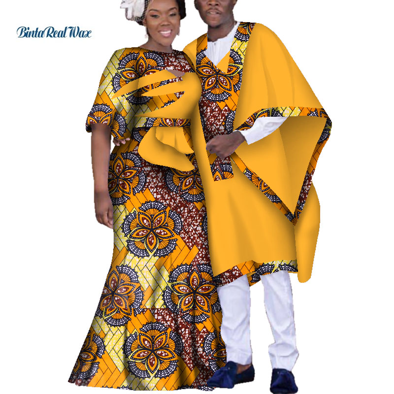 d4695cb2f96 Dashiki African Dresses for Women Couple Clothing Bazin Riche Men Robe Traditional  African Clothing Lover Ankara Clothes WYQ151 – Twizamart.ca