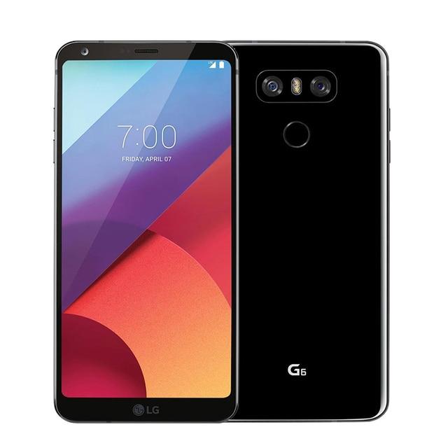 هاتف خلوي LG G6 G600L/S/K النسخة الكورية بشاشة 5.7 بوصة وذاكرة وصول عشوائي 4 جيجابايت وذاكرة قراءة فقط 32 جيجابايت/64 جيجابايت ومعالج سنابدراجون 821 وكاميرا خلفية مزدوجة (بدون طلاء)