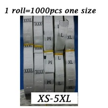 1000pcs A lot Label Size XS-5XL Care Labels Silk&Satins Women Clothing White Carment Custom Men Suits labels number Sew tags