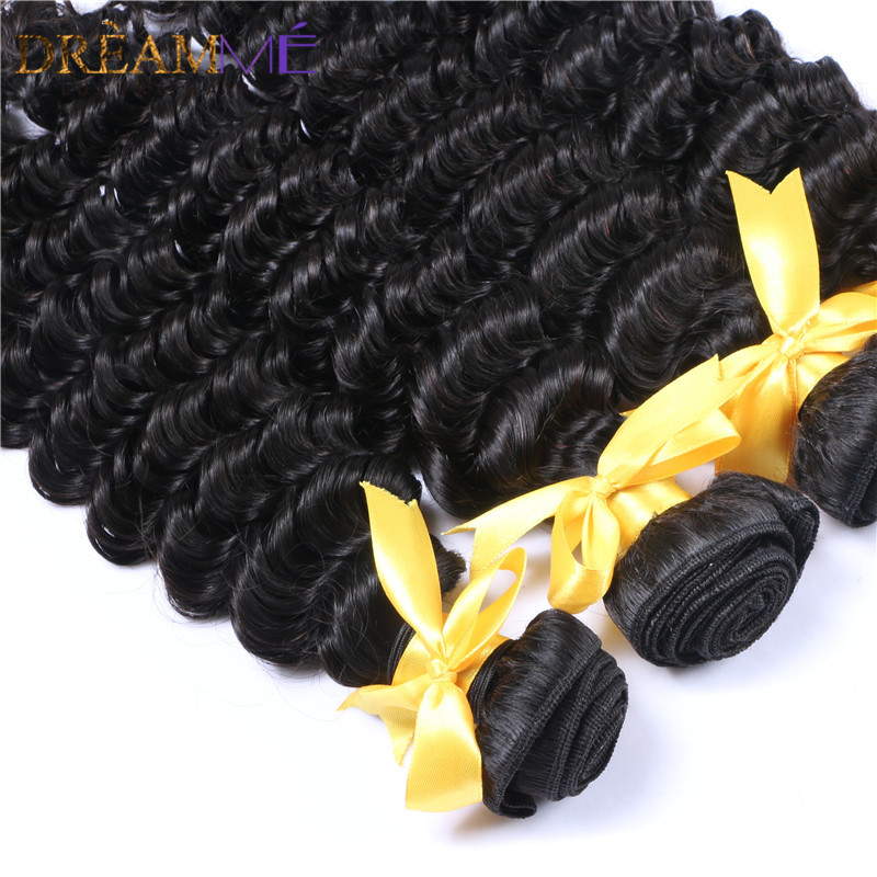 kinky curly human hair extension with 13x4 lace frontal closure (3)