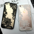 Sexy lace floral mandala case para iphone 7 6 6 s mais fashion flor do vintage limpar capa para iphone 6 6 s plus capa de telefone de volta