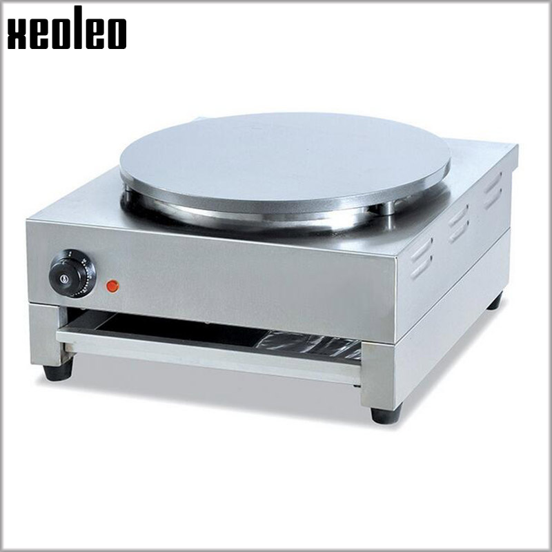 Xeoleo Commerical Pancake machine Electric Crepe maker 40cm pot 3000W Non-stick Surface French Crepes Pancakes Naan Bread maker