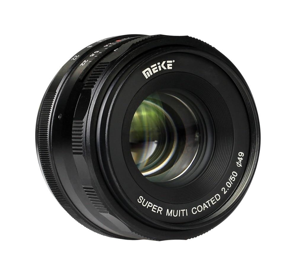 MEKE MK-50mm F2.0 Large Aperture Manual Focus Lens for Olympus/Panasonic M4/3-mount EM1/M/M10/EP5/EPL3/PL5/PL6/PL7/PEN-7 Cameras мясорубка panasonic mk g1800pwtq