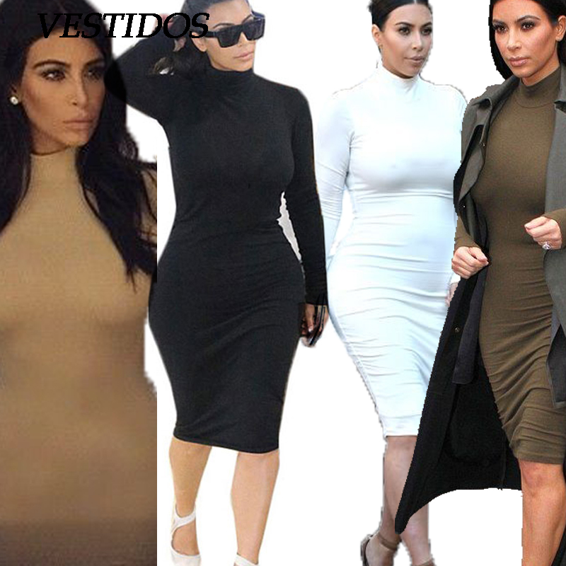 Plus Size Bodycon Dress Women Sexy Long Sleeve Black Winter Dress