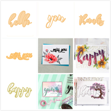 GJCrafts Letter Phrases Word Dies Cutting Metal for DIY Scrapbooking Embossing Photo Album Paper Card Decorative Craft