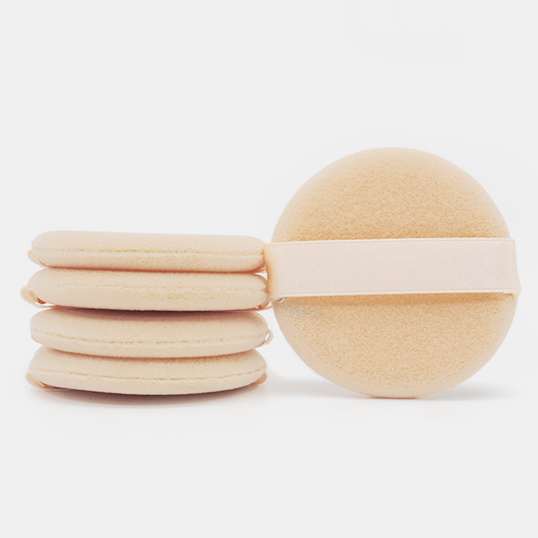Woolen Cloth Soft Skin-friendly Face Smooth Foundation Powder Cosmetic Puff 5PCS Organic Cotton Pads Makeup Sponge Puff Beauty image