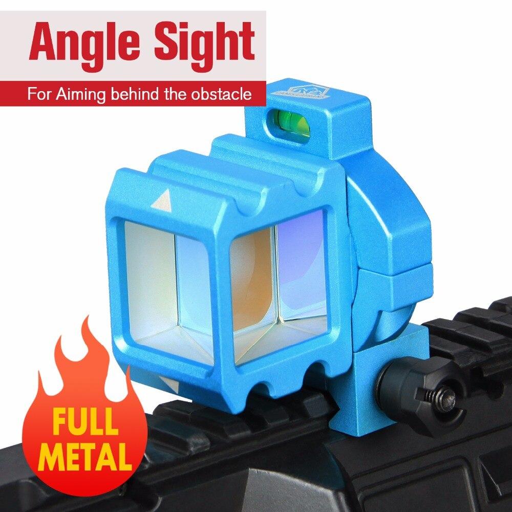 E.T Dragão Refletir Ângulo Visão Full Metal Espelho de Canto Red Dot Holographic Visão 360 Rotate Para Wargame Airsoft CQB PP1-0401