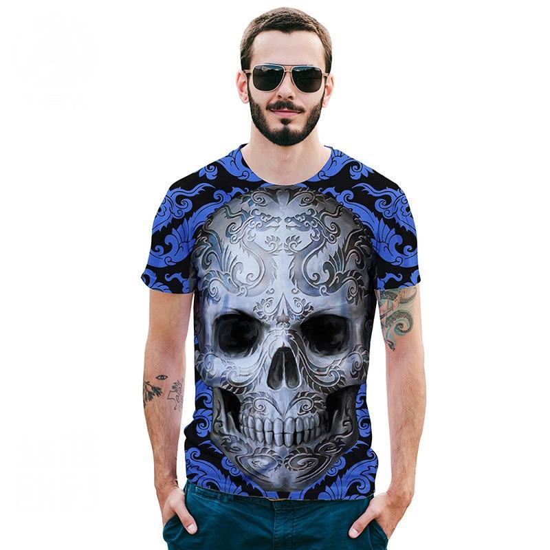 3d printed t-shirts Men Tshirt New Fashion Hot Design 3d Skull Print Tees Tops Summer Cool High Street Wear t shirt homme