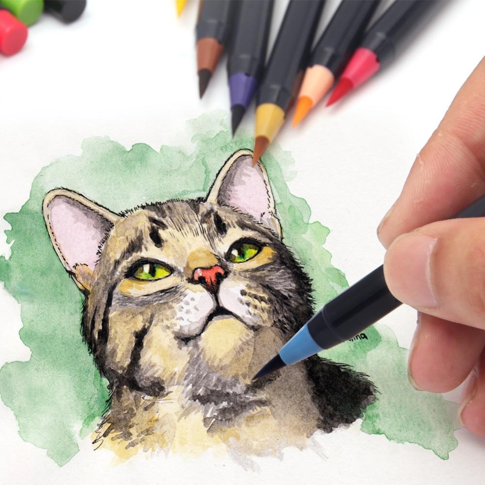 Aliexpress.com : Buy 20 Color Premium Painting Soft Brush Pen Set ...