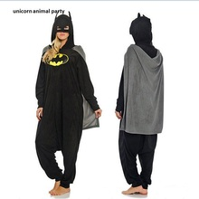 Kigurumi Adult Cartoon Batman Onesie Pajamas Anime Cosplay Costumes Unisex Animal Sleepwear Party Pyjamas Sleepwear Jumpsuit