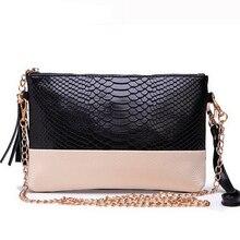Women's Genuine Leather Alligator Cowhide Bag Female Crocodile Chain Small Evening Bag Clutch Handbag Wrist Bag Wallet Purse