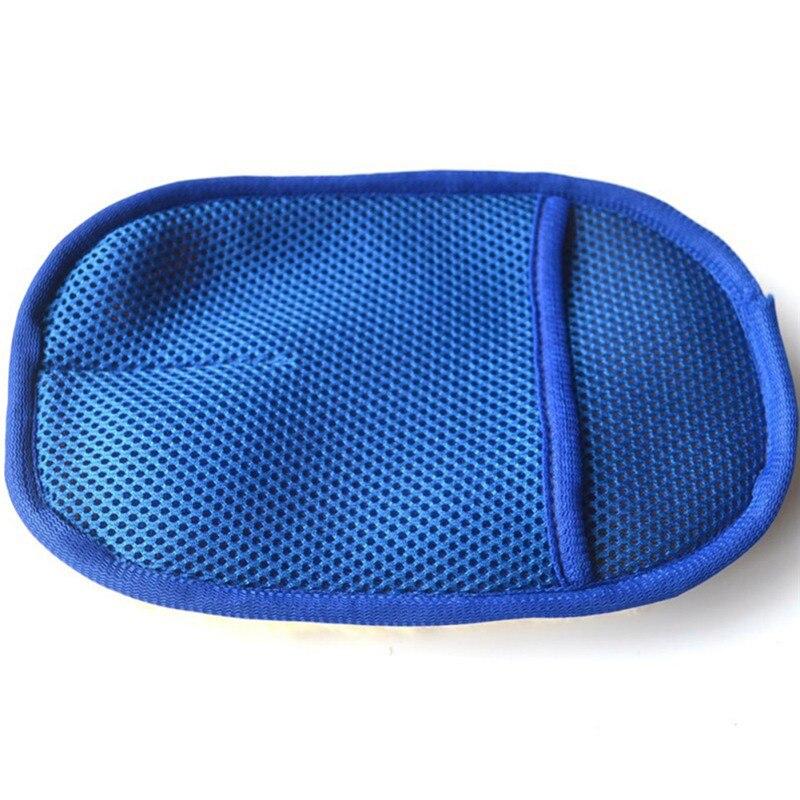 1 шт., для стайлинга автомобиля, шерсть, мягкая, для мытья автомобиля, для чистки перчаток, щетка для чистки, мотоциклетная шайба, товары для ухода, аксессуары для автомобиля - Название цвета: Синий