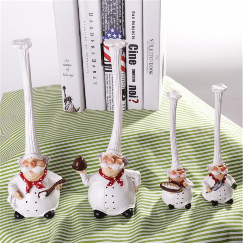 Chicchic Christmas Kawaii Chef Home Accessories Kitchen Decoration Resin Crafts Cake Bakery Chef Articles