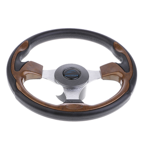 Image 1 - 320mm Aluminum Alloy Marine Boat Pontoon Steering Wheel 3 Spoke 3/4 Boat Parts & Accessories Marine Hardware