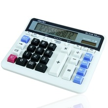 Finance Calculator 12 Digits Solar and Coin Battery Power Desktop Deli office stationery 2135
