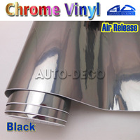 Quality Guarantee Black Mirror Chrome Vinyl Film Car Wrap Sticker With Air Bubble Free 30m Roll