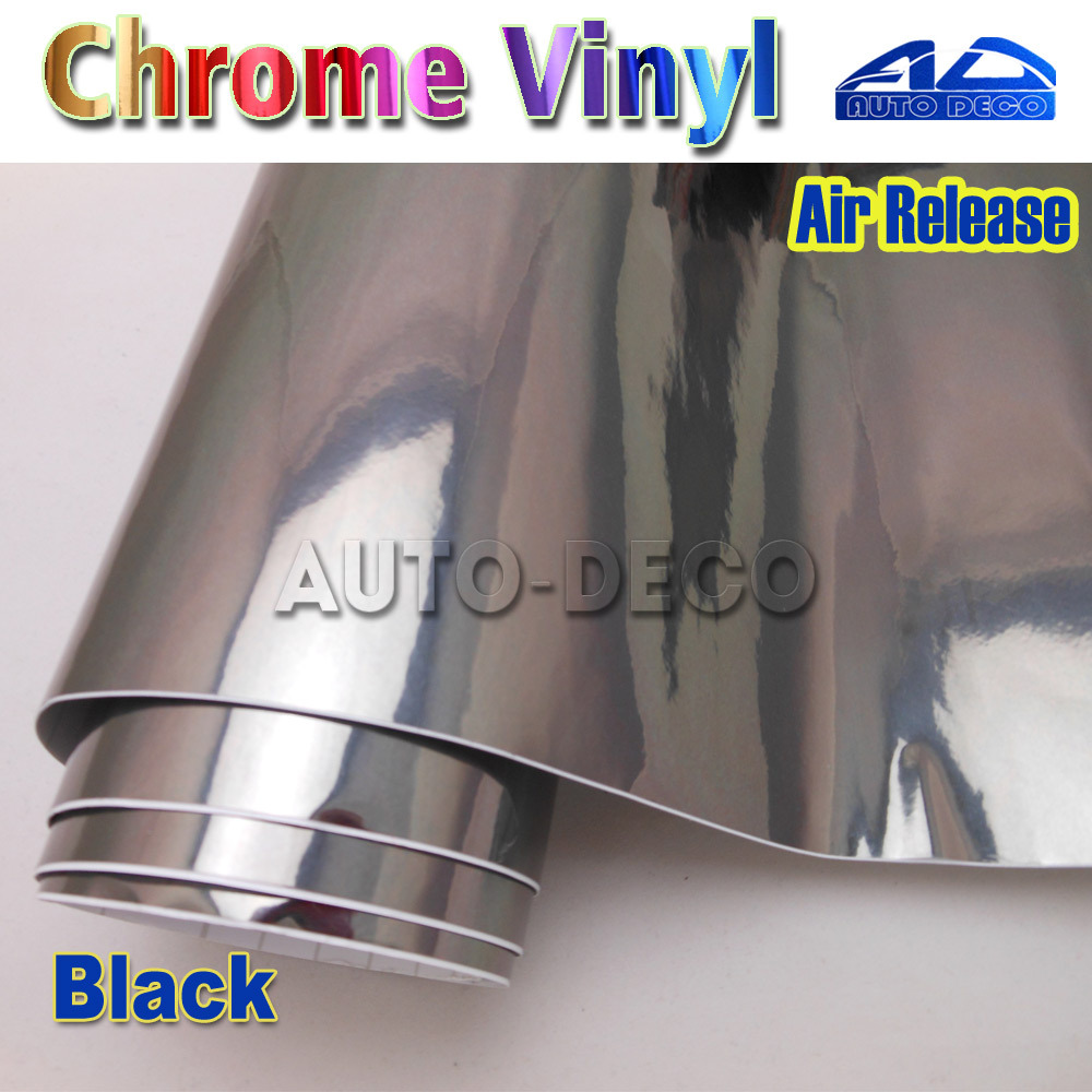 Quality Guarantee Black Mirror Chrome Vinyl Car Wrap Film Color Change Sticker Sheet With Air Bubble Free 30m/roll quality guarantee silver chrome vinyl film for car wrapping sticker with air bubble free 20m roll