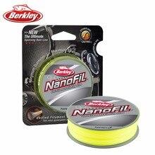 Original marca berkley nanofil 150yd 137 m uni chartreuse de pesca de línea hi-vis de pesca monofilamento línea de cero memoria 12lb 14lb 17lb