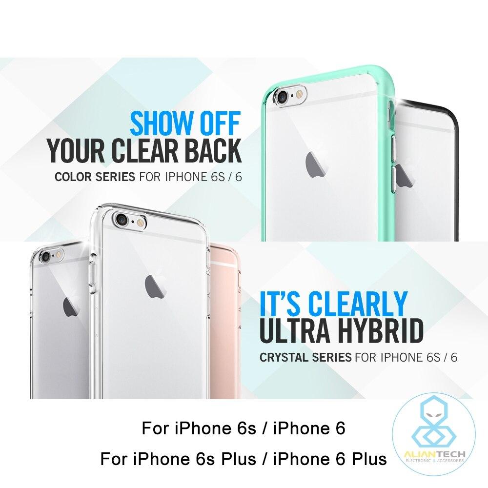 imágenes para Aliantech Caso Híbrido Ultra Para el iphone 6 s/iphone 6/iphone 6 Plus/6 s Plus-Premium de Clear Trasero Duro Panel casos