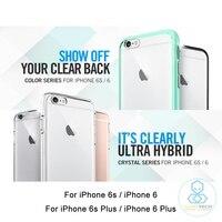 Genuine Ultra Hybrid Case For IPhone 6 Plus Spigen Premium Clear Hard Back Panel Flexible Edge