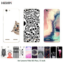 Soft TPU Case for Lenovo Vibe K5 Plus Silicone Cover Back Phone Cases Current Printed for A6020 / A6020a46 / Lemon 3 Shell(China)