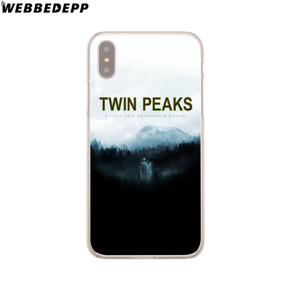 WEBBEDEPP Twin Peaks Case for iPhone X or 10 8 7 6 6S Plus 5 5S SE 5C 4 4S