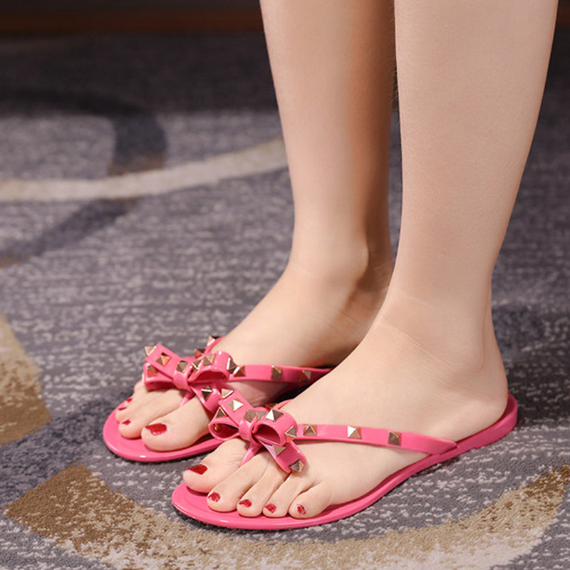 24cff3879f1529 2018 Revit slide sandals women luxury designer genuine cow really leather  lady shoes V flats slippers women fashion design -in Slippers from Shoes on  ...