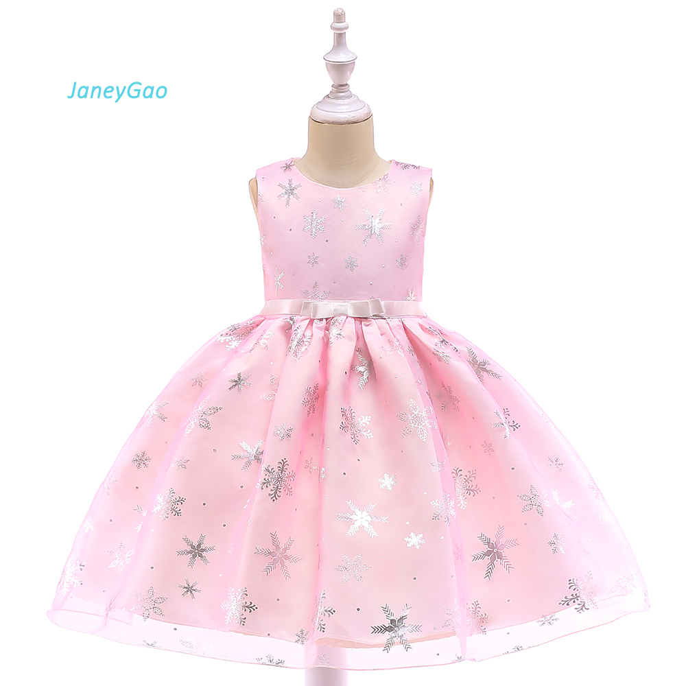 JaneyGao Flower Girl Dresses For Wedding Party Pageant Gown Little Girl Formal Birthday Prom Dinner Dress Wear Pink 2018 New