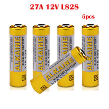 5pcs/lot 27A A27 12V Alarm-Remote Dry Alkaline Battery Cells 27AE 27MN Car Remote Watch Ca